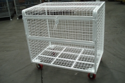 Wiretainers Lockable trolley
